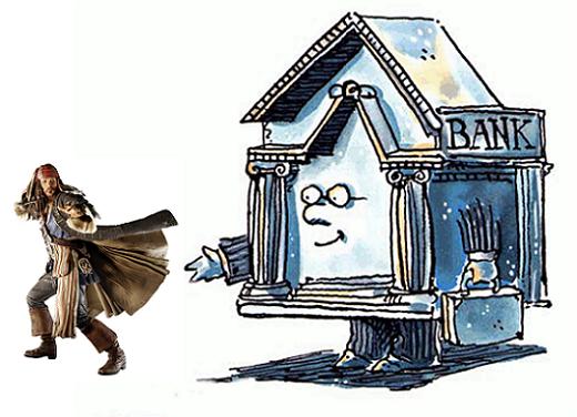 jack sparrow e il bancario